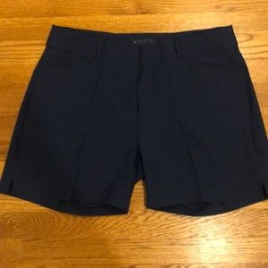 Navy blue adidas golf shorts